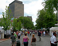 The annual arts and crafts festival draws thousands of visitors to the heart of downtown Syracuse each July.
