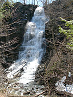Pratts Falls County Park features this waterfall thats over one hundred feet high!