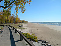 Precisely 60 miles north of Syracuse, Southwick Beach State Park feature miles of ocean-like whate sand beach!