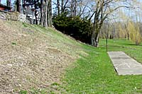 An entire growing season was required to bring a persistent infestation of crownvetch and bindweed under control before the slope below the residence was planted.