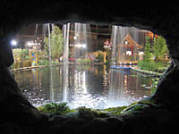 A really big garden pond and waterfall where featured a couple of years ago at the GardenScape Flower and Garden Show in Rochester.