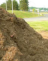 City of Syracuse mulch often contains some plastic, stone and metal contaminates. However, it's what I use in our landscape!