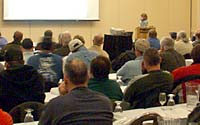 Several hundred grounds management staff from higher education institutions across New York State attend a session of the From the Ground Up II conference that I developed for NYAPPA in April, 2004.