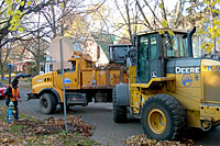 Sixty City of Syracuse Department of Public Works employees spend ten hours a day throughout the month of November collect and hauling almost 3,000 truckloads of leaves!