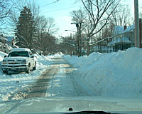 During the week prior to when I took this picture, nearly 40 inches of snow fell in Syracuse.